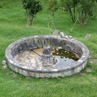Заброшенный фонтан рядом с Ново-Афонским монастырём