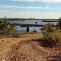 Река Обор и трасса на Благодатное