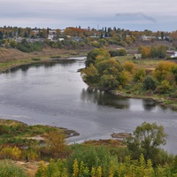 Река Быстрая Сосна. Вид из парка. 2018.