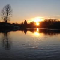 Река Юрга,закат