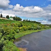 Вид с моста. Вдали слобода Заливенская. 2019.