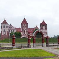 Вид на Мирский замок.