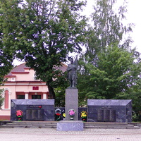 Памятник воинам-освободителям города.