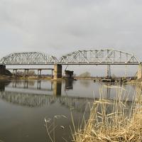 Возведение нового автомобильного моста через реку Северский Донец. 2019 г.