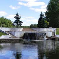 Радон. Водопад с первого водохранилища.