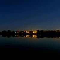 Вид с КРЭСа через водохранилище на Соколовку