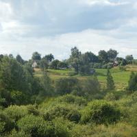 вид на деревню со стороны реки