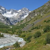 Дигорское ущелье.Ледник Тана.