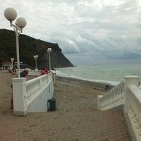 Лестница на центральный пляж