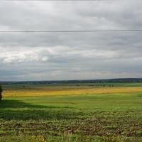 Вид на деревню Вертячево, пойма реки Отра и реки Москва