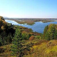 Вид на Высоковский затон и реку Ока