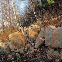 Береговые пласты породы,реки Ока