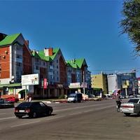 Улица Коммунистическая в районе железнодорожного вокзала