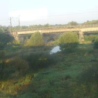 Ж/д мост через реку Нерская около г. Куровское