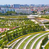Парк Галицкого с видом на город