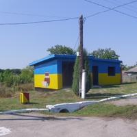 Автобусная остановка села Цветное.