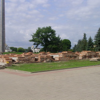 Законсервированные руины Белого дворца в Брестской крепости