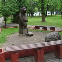 В городском парке культуры и отдыха