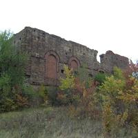 Остатки главного корпуса брикетной фабрики.