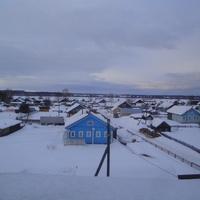 Вид с крыши двухэтажного дома  у школы.