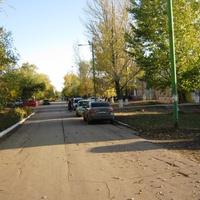 Мокроус. Осенняя улица Победы.