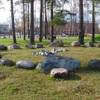 """Мегалитический круг в парке """"Крестов Брод"""" по образцу Кривандинского комплекса"""