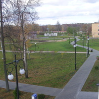 "Территория парка""Крестов Брод"" с балкона ДК Косякова"