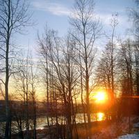 Волга у деревни Волга.