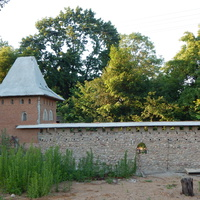 Копия Кревского замка (вид на стену с главной башней)