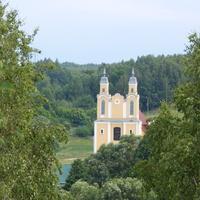 Вид с Юрьевой горы на костел Преображения Господня