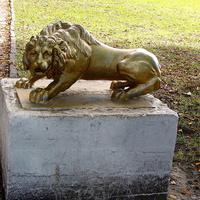 Вышний Волочек. Лев в городском саду.
