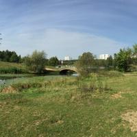 Мост в бицевском парке