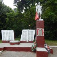 Братская могила советских воинов.