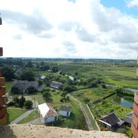 Вид с верха Каменецкой вежы на г.Каменец.