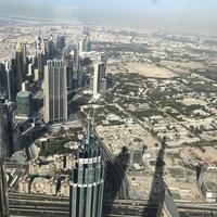Дубаи. Вид на город смотровой площадки небоскреба Burj Khalifa