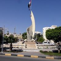 Хургада. Монумент флага.