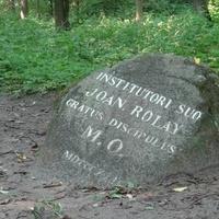 Памятный камень в честь учителя М.К.Огинского Жана Роле (Усадьба Огинского)