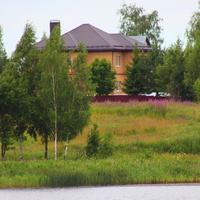 Вид на деревню с Флёнова озера.