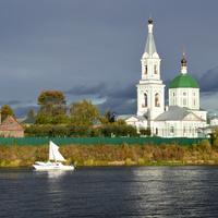 Екатерининский женский монастырь. Река Тверца.