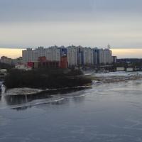 Кириши, река Волхов, новостройки