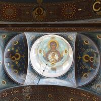 Ново-Афонский Симоно-Кананитский мужской монастырь. Роспись потолка храма