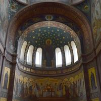 Ново-Афонский Симоно-Кананитский мужской монастырь.Роспиь стен .