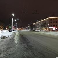 Проспект Ленина вид на запад в сторону ЖД вокзала
