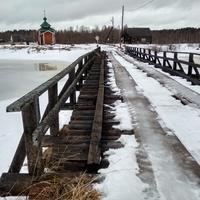 мост на озере Нименьгское