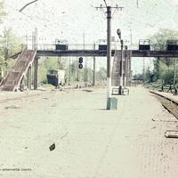 Петушки, платформа ж/д станции, 1990 г.