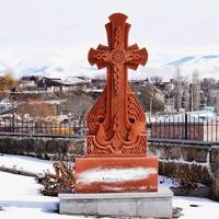 Хачкар на территории  Черной крепости
