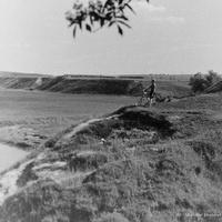 Долина р. Рожайка. Вид со стороны д. Авдотьино, 1956 г.