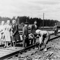 Железнодорожные пути около Луховиц, 1957 г.
