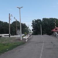 Елизавето-Николаевка. Переезд остановочный пункт Керамиеский линии Иловайск-Квашино