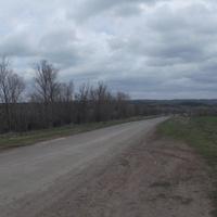 Елизавето-Николаевка. Дорога на тракторную бригаду